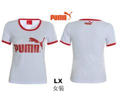 New 2013 Women's Fashion name brand Embroidered PUMA short sleeve t shirt white! Only $15.0USD