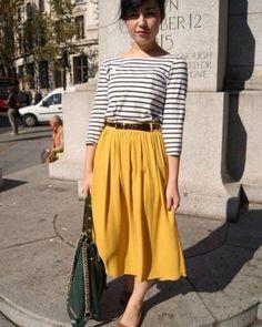 Camisa Social Feminina Listrada com Bolso Gleice