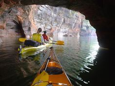 Want to try kayaking the sea caves? Head to Bayfield and explore the Apostle Islands National Lakesore with Living Adventure.