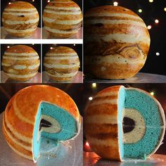 Jupiter Cake Tutorial, you could do this for a science project and then after wards everyone eats it!