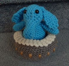 Made to order, Hand crocheted Star Wars Max Rebo with Piano Jabba the Hut Band Amigurumi Doll
