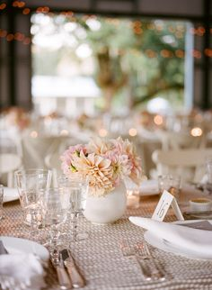 Love the linens! Photography by megsmith.com, Event Planning by lauriearons.com, Floral Design by kathleendeerydesign.com