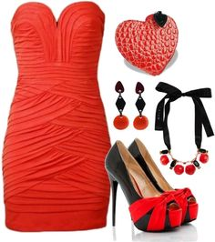 """red butterfly"" by mskulamshy on Polyvore"