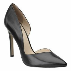 "To create this fall's ultimate shoes, Nine West partnered with InStyle's editors to design an exclusive, limited footwear collection.  D'Orsay pointy toe pump on a 4 1/4"" heel"