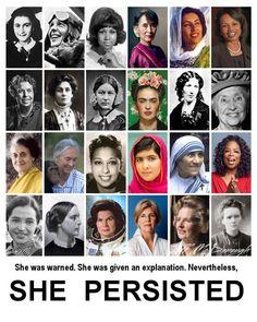 Nevertheless, she persisted. (scheduled via http://www.tailwindapp.com?utm_source=pinterest&utm_medium=twpin)