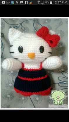 Hello kitty tejida