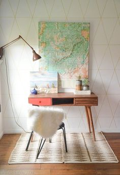 Ways to Decorate with Vintage Maps   Apartment Therapy