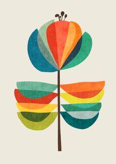 66 Ideas For Flowers Illustration Pattern Design Art Prints Framed Art, Wall Art, Mid Century Art, Arte Floral, Grafik Design, Art Inspo, Art Projects, Whimsical, Abstract Art