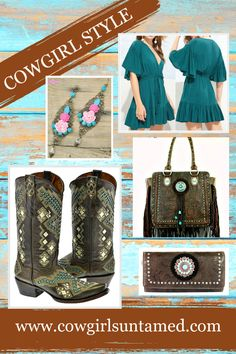 COWGIRL STYLE BOOTS Rhinestone Studded Aztec Pattern Brown Turquoise Genuine Leather Boots Sizes 6-9 $269 FREE USA SHIPPING w/ FREESHIP21 COWGIRLS UNTAMED Fashion, Boots, Handmade Jewelry #leatherboots #turquoise #women #ladies #cowgirlboots #brownboots #genuineleather #studded #bronze #inlay #rodeo #horseriding #horse #westernshow #barrelracing #barrelracer #ridingboots #style #westernwear #cowgirlfashion #cowgirlstyle #outfit #fashion #weddingboots #aqua #onlineshopping #deals…