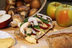 Apple Brie Panini with Mushrooms - Vegetarian and Gluten-Free - media registered dietitian Christy Brissette 80 Twenty Nutrition