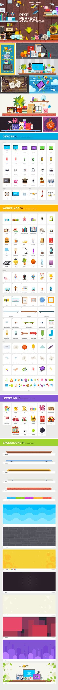 PIXEL PERFECT scene constructor | Product Mockups