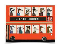London Doubledecker Bus Card by Paper Sparrow. London Red Bus, London City, London Bridge, Fashion Handbags, Fashion Bags, Bus Cartoon, Stefan Sagmeister, Double Decker Bus, Over The Shoulder Bags