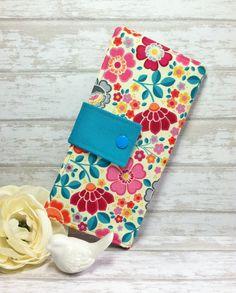 Spring has sprung floral wallet, womens wallet, bifold wallet, slim wallet, credit card wallet, fabric wallet, teen womens gift ideas