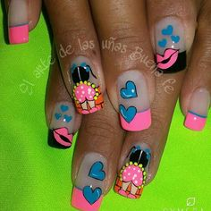 Natural Acrylic Nails, Nailart, Stiletto Nails, Manicure And Pedicure, Ale, Nail Designs, Nail Ideas, Beauty, Work Nails