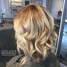 Blonde Hair, Balayage, Curls, pretty hair, JOICO color, Lob, Short Hair,