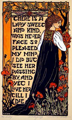 Art Nouveau style poster