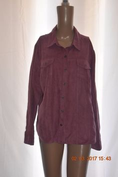 Croft Barrow Women's Shirt Suede Feel Cute Unique Gently Used No Defects Pink #CroftBarrow #ButtonDownShirt #Casual