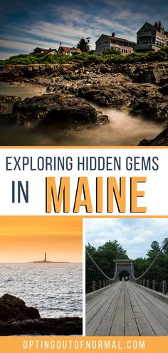 Family summer vacation or the ultimate road trip this fall? We put together some bucket list hidden gems for you to see! There is more to Maine than Portland and Bar Harbor. Check out some of these beautiful, quiet places in the New England area. Take the kids on a family trip to explore some of the unique things to see in Maine. The best bucket list destination with hiking, kayaking and beautiful sights to see. North America Destinations, Us Travel Destinations, Travel Usa, Travel Maine, Monhegan Island, World Most Beautiful Place, East Coast Road Trip, Romantic Weekend Getaways, Where To Go