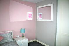 Muted Pink / Grey / Blue bedroom Bobbin Lamp