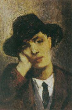 portrait d' Amedeo Modigliani par Jeanne Hébuterne