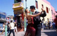 Tango on an Argentine street