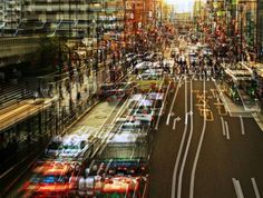 Stephanie Jung is a German photographer with a very individual perspective on urban landscapes. Her multiple exposure series from Japan is particularly impressive, featuring her unique view on areas such as Tokyo, Osaka, Shibuya, and Nara. Cityscape Photography, Exposure Photography, Urban Photography, Artistic Photography, Street Photography, Motion Photography, Creative Photography, Digital Photography, Landscape Photography