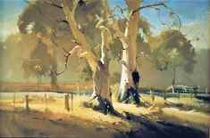 [0]Roadside Trees-OIL 60 x91cms Painted Feb 1989 Won 1st Prize Korumburra 1989 BAK
