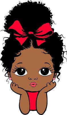 Black Girl Cartoon, Black Girl Art, Black Girl Magic, Pretty Black Girls, My Black Is Beautiful, Black Little Girls, Baby Girl Drawing, Black Art Pictures, Afro Girl