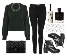 """""""Sin título #14256"""" by vany-alvarado ❤ liked on Polyvore featuring Topshop, ASOS and Chanel"""