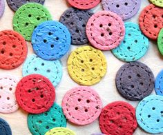 120 Plantable Paper Buttons  Cute as a Button by recycledideas, $24.00