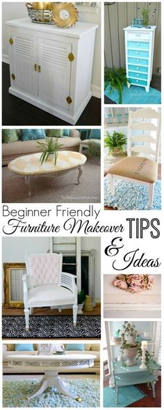DIY painted furniture makeover ideas, techniques and tutorials   All beginner friendly from foxhollowcottage.com