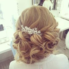 Effortlessly Elegant Wedding Hairstyle Inspiration soft and to the side