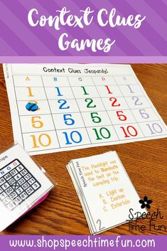 Context Clues Games: build tier 2 vocabulary with this 3 in 1 pack perfect for speech and language therapy