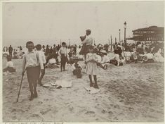 "Art and Picture Collection, The New York Public Library. ""On the beach at Coney Island"" The New York Public Library Digital Collections. 1901 – 1905."