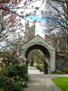 The old Cemetery Gate.of Canterbury Cathedral, Kent, England
