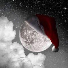 Full Moon w/Santa Hat