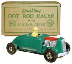 1948 Marx, Sparkling Hot Rod Racer, Green (Factory Sample)