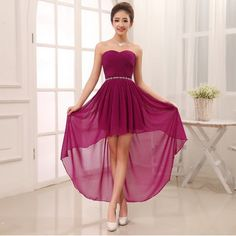 Resultado de imagen para vestidos de fiesta cortos con cola 2014 para adolescentes