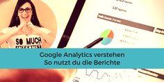 Google Analytics verstehen - so nutzt du die Berichte  Google Analytics ist das bekannteste kostenfreie Webanalyse-Tool. Auch wenn Deine Seite noch sehr klein ist, solltest Du regelmäßig einen Blick in die Statistiken werfen.  Für Einsteiger ist es häufig schwierig, in dem Dschungel der ganzen Möglichkeiten durchzublicken. In diesem Artikel gebe ich Dir einen Überblick über die einzelnen