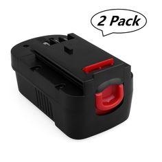 Biswaye 2 PACK 18V 3.0Ah Ni-CD HPB18 Replacment Battery for Black & Decker 18-Volt Tool Battery HPB18-OPE 244760-00 A1718 FS18FL FSB18