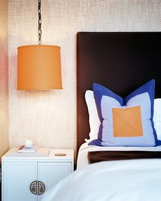 hanging pendant as bedside lamp