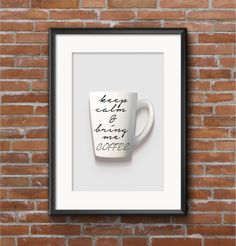 Wake up your kitchen decor with this elegant and cheeky free coffee printable art!