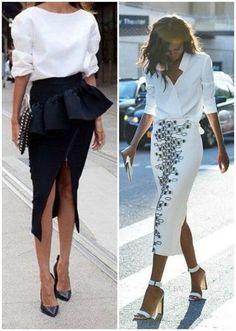 invitada boda falda camisa blanca white shirt skirt blog