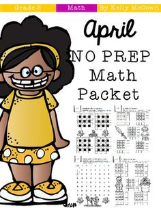 This April Math NO PREP packet that will keep your fifth graders engaged! This packet is just plain fun. Not only is it PACKED with fifth-grade common core math problems, it also gives students fun coloring, puzzles, and problem solving. Use this packet for bellwork, classwork, extra credit, fast finishers, or homework!