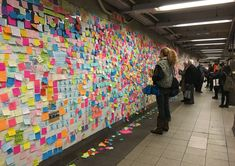 Subway Therapy Post It Notes Provide Outlet for New Yorkers New York Subway, Guerrilla, Visual Identity, Therapy, Notes, Messages, Finals, Projects, Public