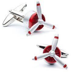 Enamel Propeller Cufflinks by Cufflinksman