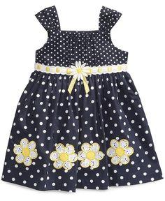 Blueberi Boulevard Baby Girls' Daisy Dot Sundress - Kids Dresses & Dresswear - Macy's