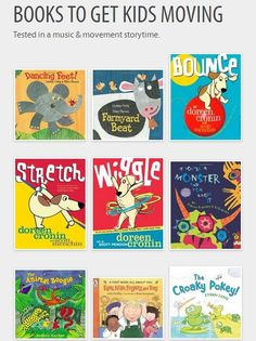 Early childhood books for parents and teachers to use that encourage movement and support early literacy development.