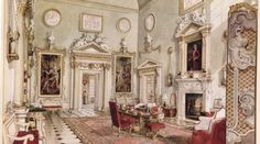 Gallery - The Ditchley Foundation   The Great Hall, from a painting by Alexandre Serebriakoff. Ronald Tree's second wife Marietta commissioned a series of paintings of Ditchley as a memento of his occupancy in the 1930s and 1940s.