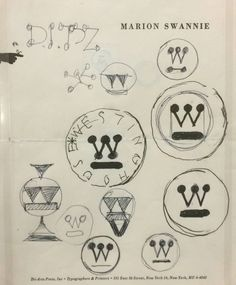 Paul Rand – Sketches for Westinghouse identity, Sterling Memorial Library, Yale